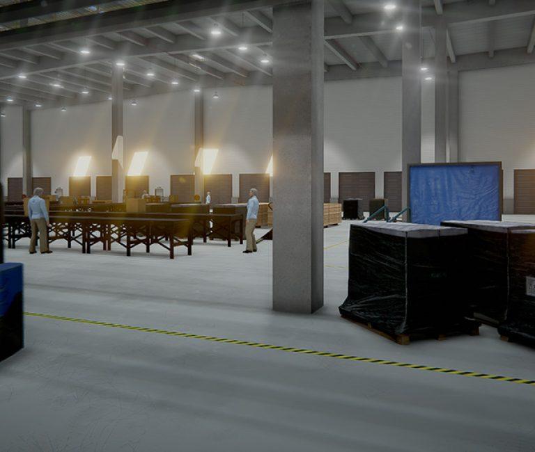 Entrepôt en réalité virtuelle