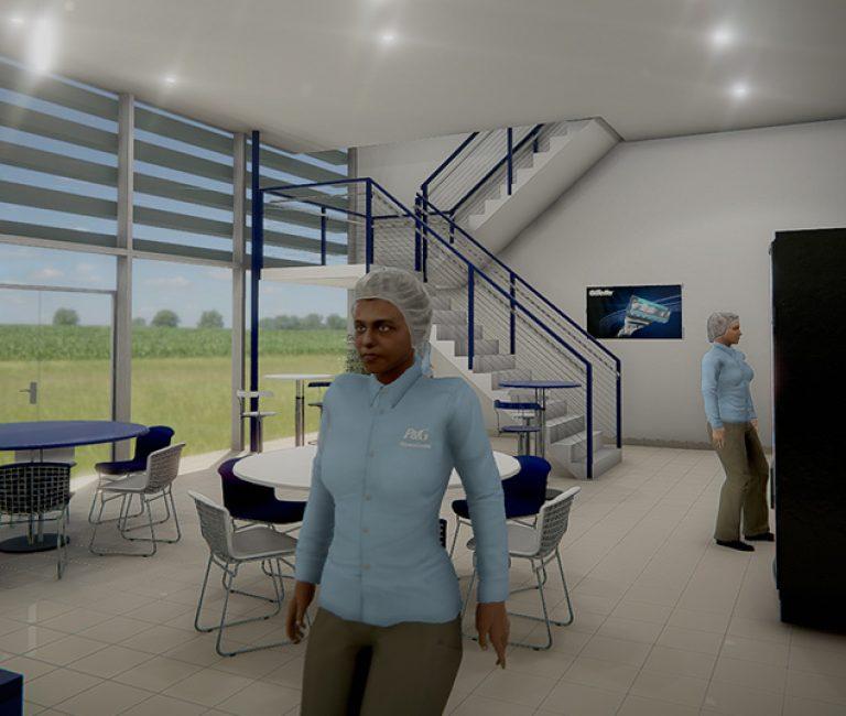 Salle de détente en réalité virtuelle