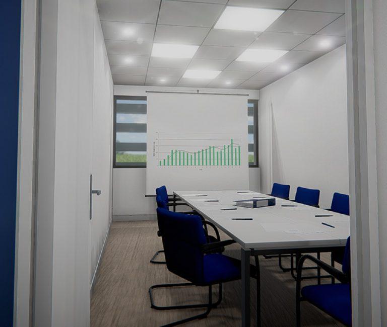 Salle de réunion en réalité virtuelle