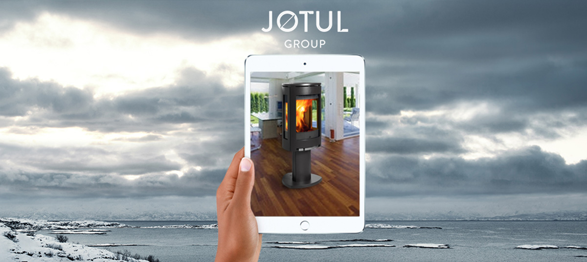 Application mobile réalité augmentée Jotul