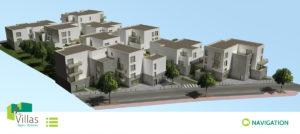 maquette 3D Les villas