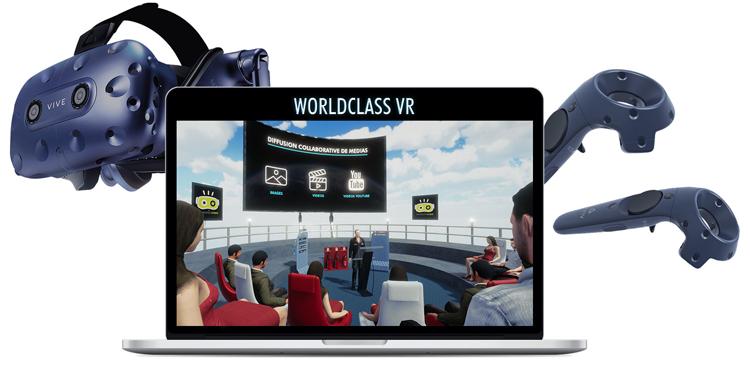 Wordclass VR - réunion et formation en ligne dématérialisée