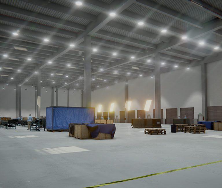 Entrepôt de stockage en réalité virtuelle