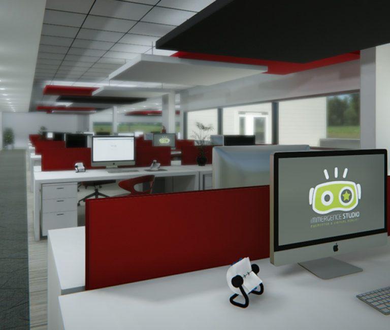 Bureau en réalité virtuelle